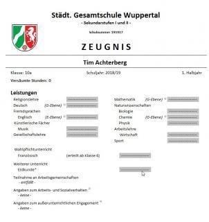 Zeugnisformulare Ministerium Fur Schule Und Bildung Des Landes Nordrhein Westfalen